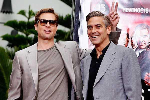 Так как Клуни стал счастливым отцом близнецов, то ему просто необходимы дельные советы от многодетного отца Брэда Питта