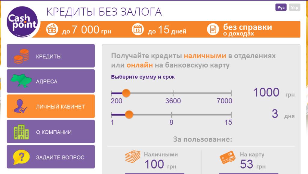 Онлайн кредит до 7000 грн