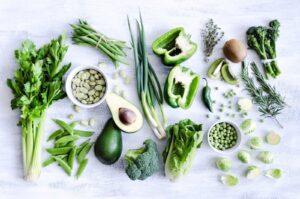 Зеленые овощи натощак